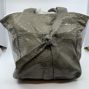 Perlina Bags - Perlina Faux Snakeskin Hobo Bag